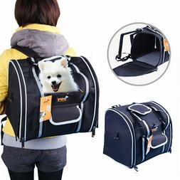 Oxford Dog Cat Pet Carrier Outdoor Travel Backpack w/ Mat -