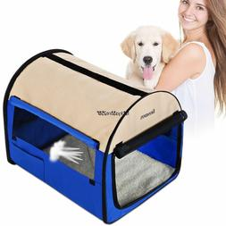 Oxford Portable Folding Pet Dog Soft Carrier Cage Home Crate