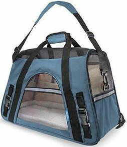 Paws & Pals Airline Pet Carriers Fleece Bed Dog & Cat Small