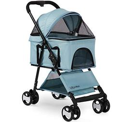Paws & Pals Dog Stroller Easy Walk Folding Travel Carriage f