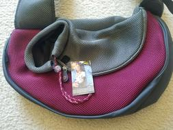 Paws Wacky Pet Sling Bag Dog Carrier Tote  Large Burgundy Br