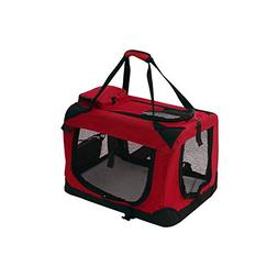 ALEKO PBCREDS Collapsible Pet Carrier Heavy Duty Portable Pe
