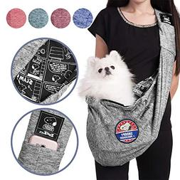 Zoozpets Peanuts Dog Sling Carrier Snoopy Soft Pouch & Comfy