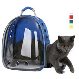 shine-hearty Pet Backpack Cat Carrier Transparent Outdoor Pu