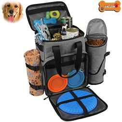 Hilike Premium Pet Travel Bag for Dog & Cat | Week Away Tote