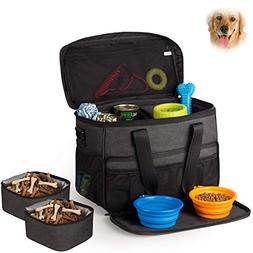 Hilike Pet Travel Bag for Dog&Cat -Weekend Tote Organizer Ba