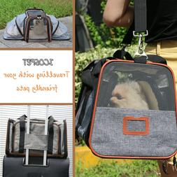 Expandable Pet Carrier Airline Approved For Cats & Dogs Unde