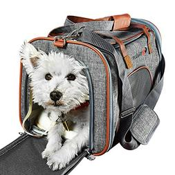 Pet Carrier Airline Approved Side Loaded Travel Bag With Stu