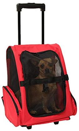 CEAJOO Pet Carrier Backpack with Wheels for Cats and Dogs Ai