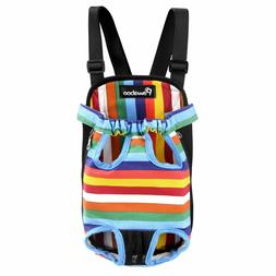 PAWABOO Pet Carrier Backpack, Adjustable Pet Front Cat Dog C