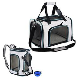 SHMEIQI Pet Carrier Backpack, Airline Approved Soft Sided Ca