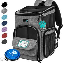 Pet Carrier Backpack for Small Cat Dog Puppy 4Way Entry Brea