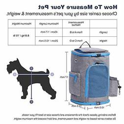 Pet Carrier Backpack For Small Dogs and Cats up To 15LBs