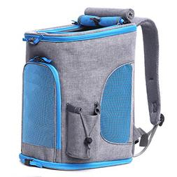 Pet Carrier Backpack For Small Dogs and Cats up To 15LBs, Up
