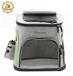 CAT DADDY Pet Carrier Backpack Soft-Sided Car Seat for Cats