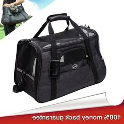 Pet Carrier Bag Soft Sided Large Cat/Dog Collapsible Travel