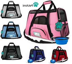 Pet Carrier Bag Soft Sided Puppy Kitten Cat Dog Tote Bag Tra
