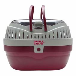 Pet Carrier Cage Plastic For Small Animals Cat Dog Hamster T