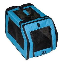 Pet Carrier/ Car Seat with belts top/side doors for cats, do