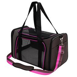Pet Carrier Compatible Dog and Cats, Airline Approved Bag, T