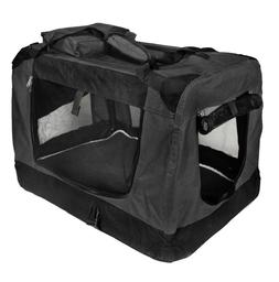 pet carrier crate portable dog cat 24in