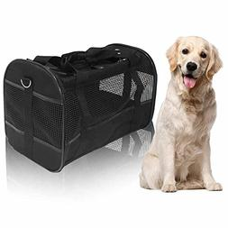 AGOOL Pet Carrier Luxury Large Soft Sided Foldable Pet Trave