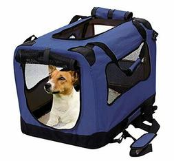 Foldable Pet Carrier, Soft Travel Crate for Small & Medium D
