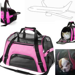 Pet Carrier Small Cat Carrying Dog Bag Soft Sided Travel Han