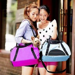 Pet Carrier Soft Sided Cat Dog Comfort Travel Tote Bag Trave