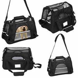Cat Dog Crate Soft Sided Pet Carrier Foldable Travel Bag Air
