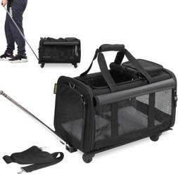 Pet Carrier with Detachable Wheels for Small and Medium Dogs