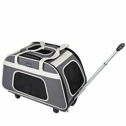 Petsfit Pet Carrier with Removeable Wheels, Soft Sided Dog C