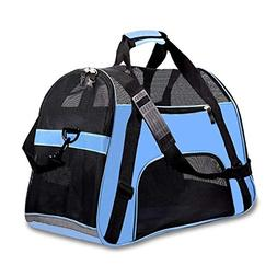 PPOGOO Pet Travel Carriers Soft Sided Portable Bags Dogs Cat