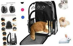 Pet Cat Dog Backpack Carrier for Rabbit Small Animal, Breath
