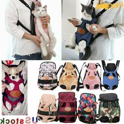 Pet Cat Dog Carrier Backpack Legs Out Adjustable Pet Front C