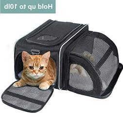 Fypo Pet Cat Puppy Expandable Carrier Crate  Soft Sided Tote