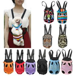 Pet Dog Backpack Carrier Puppy Pouch Front Shoulder Bag Back