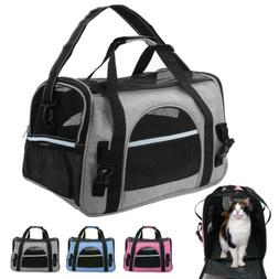 Pet Dog Carrier Bag Soft Sided Travel Crate Cat Comfort Tote