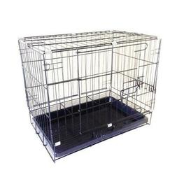 Pet Dog Carrier Folding Dog Cat Crate Cage Kennel w/ Tray Ca