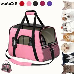Pet Dog Cat Carrier Portable Travel Bag Soft Sided Comfort C