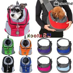 Pet Dog Puppy Carrier Mesh Backpack Travel Front  Portable S