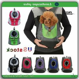 Pet Dog Puppy Carrier Mesh Portable Backpack Travel Front Tr