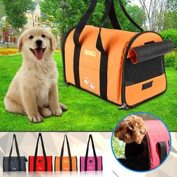 Pet Dog Puppy Cat Portable Travel Carrier Tote Cage Bag Crat