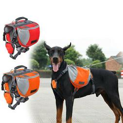 Pet Dog Saddle Bag Pack Backpack Hiking Camping Training Car
