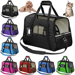 Pet Dog /Small Cat Carrier Soft Sided Comfort Bag Travel Cas