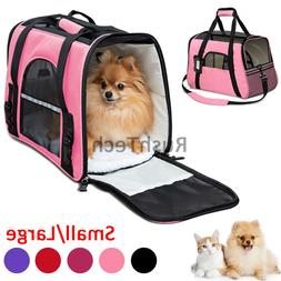 Pet Dog Cat Carrier Bag Soft Sided Comfort Travel Tote Case