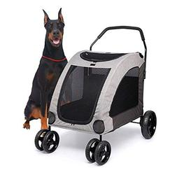 Towerin Large Pet Stroller Breathable Mesh Window Dog Cage S