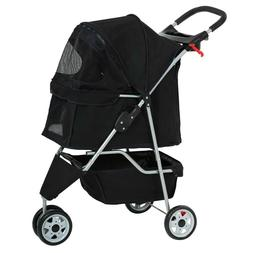 Pet Stroller Cat Dog Cage 3 Wheels Stroller T13 - Free Shipp