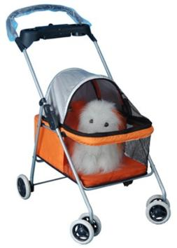 BestPet Pet Stroller Cat Dog Cage Stroller Travel Folding Ca