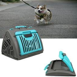 Pet Travel Carrier Cage Cat Dog Small Crate Carry Handle Fol